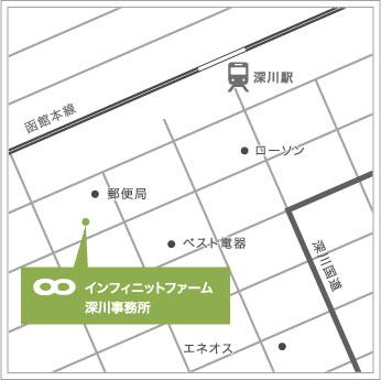 深川事務所の地図