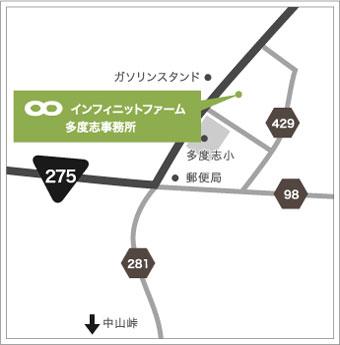 多度志事務所の地図